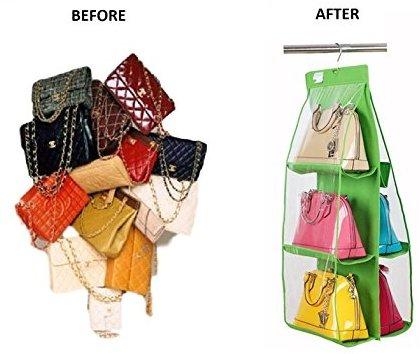 Ducomi poppins organizzatore per borse con pratico gancio per appendere all 39 interno dell 39 armadio - Come sistemare l interno dell armadio ...