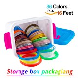 NanHong roll outThe New 3D Pen Filament Refills Storage box Kit 6 Glow in the Dark Colors 1.75mm pla.36 Colors-16 Feet Each Colo