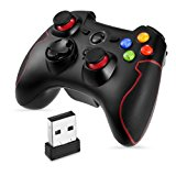 2.4G Wireless Controller da Gioco Supporta PC (Windows XP - 7-8 - 8.1 - 10) e PS3 Android Vista Decoder per la TV Gioco Portatil