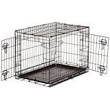 AmazonBasics - Gabbia per cani in metallo, pieghevole, con 2 sportelli, 76 cm: Amazon.it: Prodotti per animali domestici