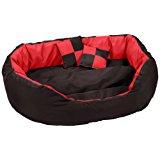 Dibea Cuscino per Cani, Rosso-Nero - 65 X 50 X 20 cm: Amazon.it: Prodotti per animali domestici