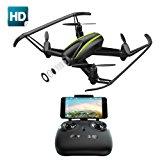 Potensic Drone U36W con Telecamera HD 720P WiFi FPV 2.4Ghz , Drone Telecomandato Funzione di Sospensione Altitudine,con SD Sched