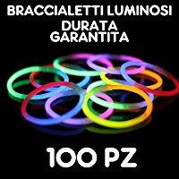 Braccialetti Fluorescenti Starlight Glowstick Disco, 100 Pezzi: Amazon.it: Giochi e giocattoli
