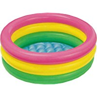 Intex 58924 - Piscina Baby 3 Anelli, 86 x 25 cm, Rosa-Giallo-Verde: Amazon.it: Giochi e giocattoli