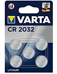 VARTA CR 2032, 6032101415, Batteria Litio a Bottone, Piatta, Specialistica, 3 Volts, Diametro 20mm, Altezza 3,2mm, confezione 5