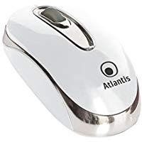 Atlantis P009-TM032-W Minimouse Ottico USB, 3 Tasti, Scroll, Bianco Lucido