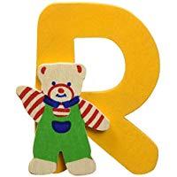 Bino 84018 Sticker Orso, Lettera R, Colori assortiti