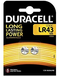 Duracell DC4052598 2 Batterie LR43 B2 Alkalina Specialistica Electronics
