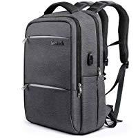 Inateck, Zaino per laptop da 15-15.6 pollici anti borseggio anti graffio con presa ricarica USB e anti-spruzzo d'acqua con la co