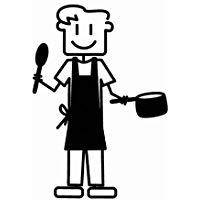 Altium 3007136 - Adesivo di uomo in cucina, colore nero
