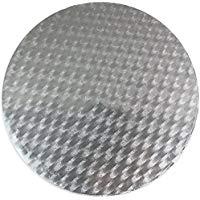 PME CBR844 Vassoio Sottotorta Circolare Sottile, Plastica, Argento, 28 x 1.1 x 28 cm