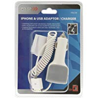 POLCO POWER IT POLC30 - Adattatore USB per iPhone, entrata 12 V uscita 5 V