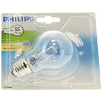 Philips EC2Y42B1 Lampadina Alogena a Risparmio Energetico, Goccia, 42 W Corrispondenti a 55 W, Attacco Grande E27