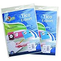 Tico 947906 Etichetta Adesiva, Confezione da 10 Fogli, Bianco