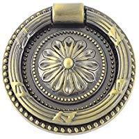 """Sourcingmap - Tono bronzo fiore intagliato armadio porta dell'armadio maniglia estraibile 3.1""""lungo"""