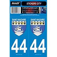 STICKZIF SC44 - 1 2 Adesivo Adesivi City 44 saint-nazaire, Set di 2