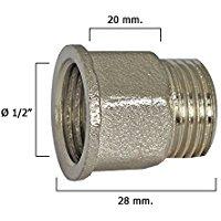 Wolfpack 4020070 - Estensione chrome esagonale 1-2 x 20