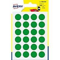 Avery Italia PSA15V Etichette Adesive Rotonde, A6, Verde