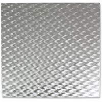 PME CBS852 Vassoio Sottotorta Quadrato, Argento, 6-inch