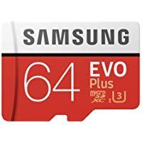 Samsung MB-MC64GA-EU EVO Plus Scheda MicroSD da 64 GB, UHS-I, Classe U3, fino a 100 MB-s di Lettura, 60 MB-s di Scrittura, Adatt