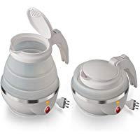 MACOM Just Kitchen 862 Space Kettle Bollitore Elettrico Pieghevole Salvaspazio da Viaggio, 220 - 240 V, Bianco: Amazon.it: Casa