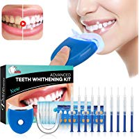 Teeth Whitening Kit Sbiancamento denti - ISUDA Gel Sbiancante Denti Professionale, 10x Sbiancamento dei denti,10x Pulizia Profon