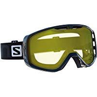 Salomon Maschera da Sci Unisex, Per portatori di occhiali, Tempo Nuvoloso,Visiera Giallo Chiaro con Effetto Flash, Sistema Airfl