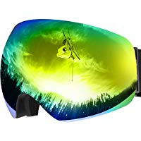 Maschera da Sci, OMORC Occhiali da Snowboard, Super-Grandangolo a Lente Sferica a Doppia Strato, NESSUN Appanamento Trattamento