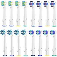 Qlebao Ricambi Spazzolini Elettrici Oral B, Multipack 4 x 4, 3D White, Precision Clean, Pulizia Profonda, CrossAction, 16 Pezzi,
