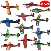 THE TWIDDLERS 48 aerei di carta: aeroplani giocattolo in 12 diversi modelli: Alianti volanti perfetti come regalini da festa, ri