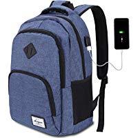 AUGUR Laptop Zaino, Impermeabile Zaino Porta PC Portatile da 15.6 Pollici con Porta USB Zainetto Laptop Unisex Scuola Zaino,35L(