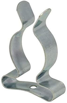 Bulk Hardware BH01974 Clip a Molla Porta Attrezzi in Acciaio Zincato Lucido, Bianco, 13 mm Set di 5 Pezzi