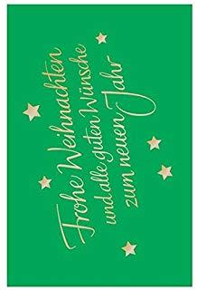 Susy Card 11431459 Busta regalo natalizia, colore: verde, motivo: scritta oro