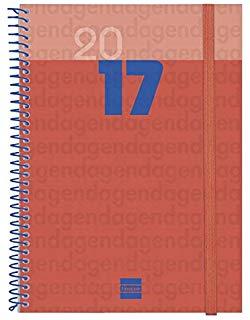 Cabero 948417 - Agenda vista settimanale 15.5x21.5 spagnolo, Bordeaux