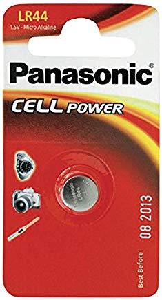 Panasonic LR44 Micropila Alcalina, in Blister, Argento