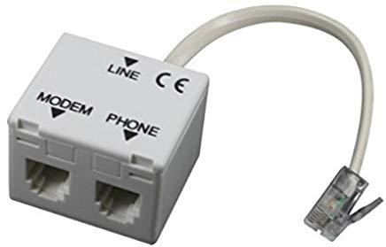 Atlantis A01-AF2 Splitter RH11, Filtro RJ11 ADSL, Plug RJ11 per Connessione alla Linea Telefonica, Jack RJ11 per Connessione ADS