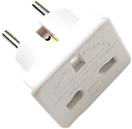 Bulk Hardware Limited BH02802 Adattatore da Viaggio per Sistema da Regno Unito a Europeo, Bianco