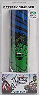 Tribe Marvel 2600 mAh Power Bank Caricabatteria Portatile Universale USB Batteria Esterna per Tutti Smartphone Cellulari - Hulk