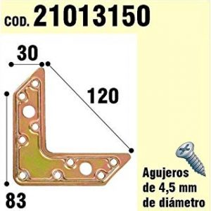WOLFPACK 21013150 - Supporto per targa di legno l bicromato, 120 mm