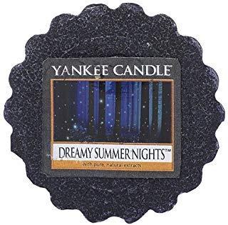 YANKEE CANDLE Dreamy Summer Nights Tart da Fondere, Cera, Blu, 5.9x5.7x2 cm