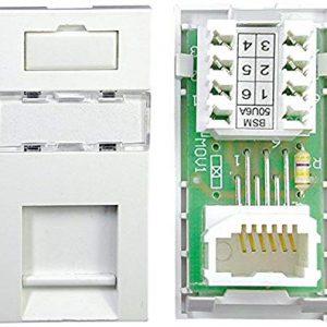 Philex 70424RE - Modulo Presa elettrica da Muro BT secondaria PABX, Colore: Bianco