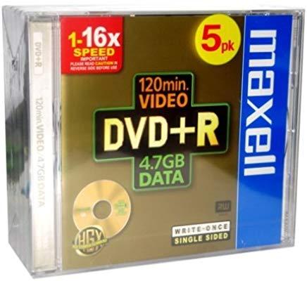 Maxell Dvd+R 4.7Gb 16X Jewell C. Conf.5