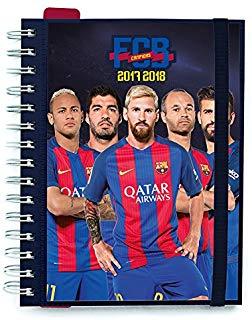 Grupo Erik Editores - Diario scolastico 2017-2018, vista settimanale, motivo: calciatori del Barcellona FCB