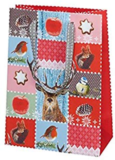 Susy Card 40001876 sacchetto regalo di natale, motivo: Winter Forest, 16 x 22 x 8 cm