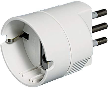 BTicino S3623DE Adattatore Presa Tedesca, Bianco, 10A