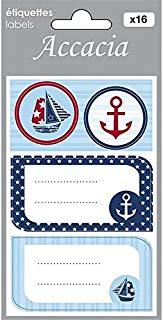 Accacia, Marin 16 Etiquettes Cadeaux