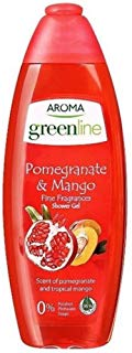 Aroma Shower gel Greenline fine Fragrances Pomegranate & mango - 400 ml