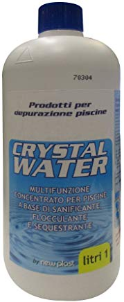 New Plast 0772 - Crystal Water Multifunzione Concentrato per Acqua Piscina, Flacone 1 lt