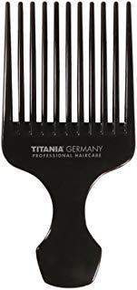 Titania Afro pettine, grande con manico, circa 15 cm, Nero, 1er Pack (1 X 30 G)