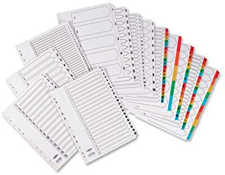 Concord Commercial Index Mylar-reinforced Europunched Jan-Dec Clear Tabs A4 White Ref 09501